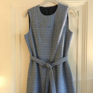 J.Crew blue/white herringbone dress, size 4